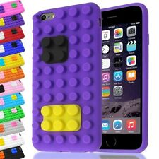3D BUILDING LEGO BRICK BLOCKS SILICONE CASE STAND COVER FOR IPHONE 6+/6S PLUS