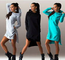 New Women's Irregular Long Sleeve Coats Jackets Dress Sweatshirts Hooded Sweater