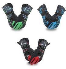 Winter Anti slip gloves Men Nylon PU Palm ski gloves cycling gloves 3 Colors