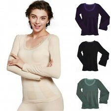 Women Ladies Winter Warm Thermal Underwear Long Sleeve Soft Tops Pants Set G77