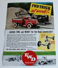 FWD Trucks at Work Single Page Brochure