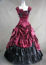SEXY Victorian Dress Southern Belle Ball Gown Reenactment Halloween Costume 270