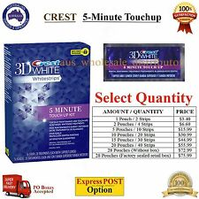 CREST 5 minute touch up 3D White Whitestrips Teeth Whitening Touchup Pouch Strip