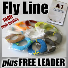 FLY FISHING - 5wt / 100ft FLY LINE ready for rod & reel - weight Forward
