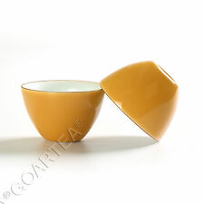 62ml Orange Fashion GongFu Tea Porcelain Ceramic JingDe Chinese teacup tea Cup