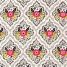 Camelot Fabrics Paradise Floral on Grey Cotton Fabric