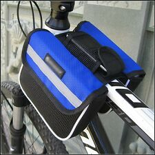 Cycling Bike Bicycle Top Frame Pannier Front Tube Double Saddle Bag Mountain