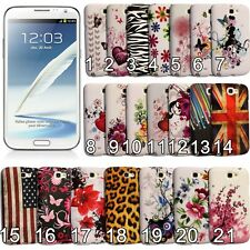 TPU Case for Samsung Galaxy Note 2 II N7100 Gel Rubber Silicone Back Skin Cover