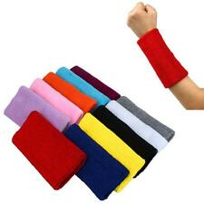 11 Sweat Color Sweatband Wristband Arm Band Basketball Tennis Gym Yoga Free Ship