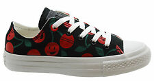 Converse CT All Star Low Top Womens Canvas Trainers Black Cherry 547342C D21