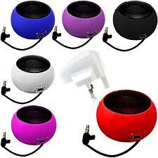 3.5mm PORTABLE COMPACT MINI CAPSULE SPEAKER+WHITE PLUG FOR LATEST MOBILE PHONES
