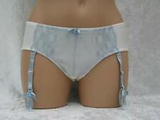 KNICKERS SIZE 14 IVORY / PALE BLUE LACE OPTIONAL REMOVABLE SUSPENDER STRAPS BNWT