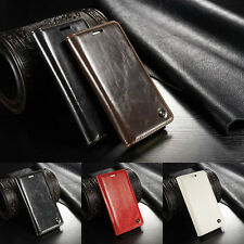 For HTC One M9 Luxury Magnetic Stand Flip Case Cover Soft Leather Wallet NEW
