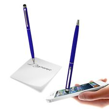 CAPACITIVE DUAL FUNCTION STYLUS PEN BLUE SOFT TOUCH FOR VARIOUS MOBILE PHONES