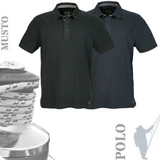 MUSTO MP0643 Mens Canvas Collar Heavy Vintage Look Polo Shirt (2 Cols)