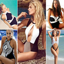 Womens One Piece Bandeau Monokini Bikini Beach Swimwear Swimsuit Bathing Suit