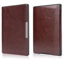 "Slim Leather Magnetic Auto Sleep Cover Case for Kobo Aura h2o 6.8"" eReader eBook"