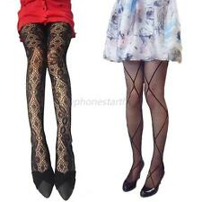 Women Girl Sexy Fishnet Pantyhose Elastic Long Jacquard Tights Bodystocking M21