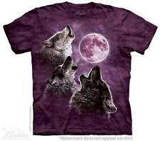 THREE WOLF MOON IN PURPLE ADULT T-SHIRT THE MOUNTAIN