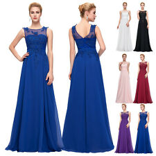 Formal Long Chiffon Gown Evening Prom Party Dress Plus Size Cocktail Bridesmaids