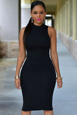 Sexy-Turtle Neck Midi Dress-Party-Nice-Cocktail-Club-Summer-Free-Shipping