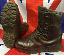 Genuine British Army Brown HAIX Cold Wet Weather Goretex Combat Boots Grade 1