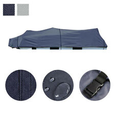 17-19 600D Trailerable Pontoon Boat Cover UV Waterproof w/ Bag Blue/Grey Opt