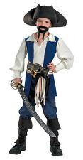 Pirates of the Caribbean Captain Jack Sparrow Child Kids Halloween Costume 6360
