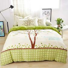 Single Double Queen King Bed Set Pillowcase Quilt Duvet Cover Lovely Tree L