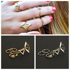 Armour rings Knuckle Ring Finger tips Ring PUNK SQUARE Gold and Silver Selection