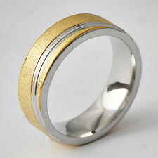 Carved Womens Yellow/White Gold Filled Band Promise Love Band Ring Size 6-9