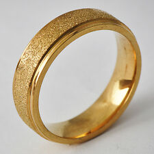 Decent Men's Unisex Yellow Gold Filled Band Promise Love Band Ring Size 8-11