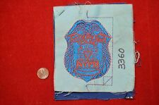 SUPER RARE NYPD FACTORY SAMPLE POLICE PATCH NEW YORK CITY