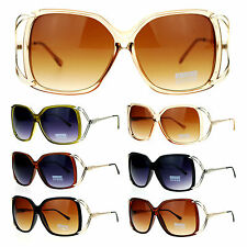 SA106 Womens Oversize Designer Fashion Metal Bow Butterfly Sunglasses