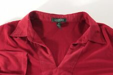 Ralph Lauren 2X Womens Red Shawl Neck Sweater Collared Pullover Long Sleeve