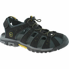 MENS HI-TEC SPORTS WALKING SANDALS SIZE 7 - 12 ADVENTURE SHORE BLACK SUNRAY