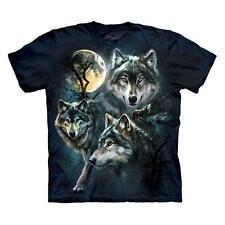 MOON WOLVES COLLAGE ADULT T-SHIRT THE MOUNTAIN