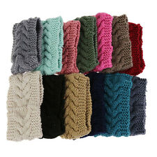 Flower Crochet Knit Knitted Headwrap Headband Warmer Hair Muffs Band Winter TB