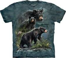 THREE BLACK BEARS ADULT T-SHIRT THE MOUNTAIN