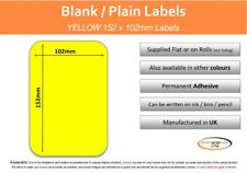 Yellow Self Adhesive Postage / Parcel Labels - 152mm x 102mm ( 6 x 4 inches)