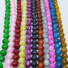 30 pcs 8mm Round Chic Glass Loose Spacer Beads Pick Colors or Mixed DIY New G10