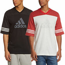 adidas Performance Mens Authentic Logo T-Shirt Short Sleeve Tee Top New
