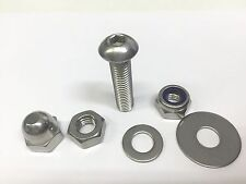 6MM STAINLESS BUTTON ALLEN BOLTS + PENNY WASHERS NYLOC & FULL NUTS & DOME NUTS