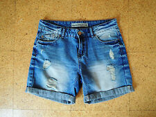New Look Boyfriend Denim Shorts, ripped faded look, Size 10, Great condition