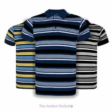 NEW MENS CASUAL CONTRAST STRIPE SUMMER TOP COLLAR TRIM NECK POLO T SHIRT S-XXL