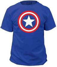 T-Shirts Sizes S-3XL New Mens Captain America Classic Shield Logo Tee Shirt