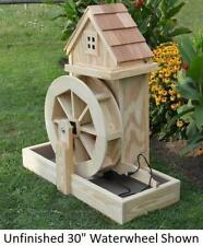 """Amish-Made Decorative Gristmill with 30"""" Waterwheel - Available in 9 Finishes"""