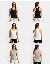 New 100% Cotton Womens Ladies Soft Fashion Summer Casual Racerback Tank Top