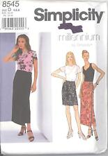 Simplicity 8545 Misses' Top, Skirt and Knit Tank Top  Sewing Pattern