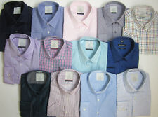 Ex Chainstore Mens Shirts Short Long Sleeve Office Formal NEW Collar 17.5